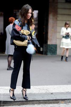 Paris Fashion Week Street Style. Natasha Goldenberg. #FW15 © Wayne Tippetts #PFW