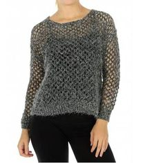 Open weave. Knit mohair sweater. Charcoal Grey. Long sleeve. 60% Acrylic 40% Polyester     TAKE 15% OFF WITH COUPON CODE SNOWBUNNY15    FREE SHIPPING | Shop this product here: http://spreesy.com/blacqskirt/117 | Shop all of our products at http://spreesy.com/blacqskirt    | Pinterest selling powered by Spreesy.com
