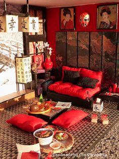 Mini Escenas, Miniaturas by Eva Perendreu: Escena Japonesa para Ainhoa - Japanese Roombox for Ainhoa