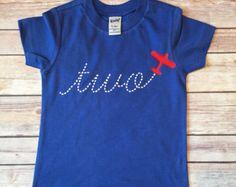 airplane birthday shirt – Etsy