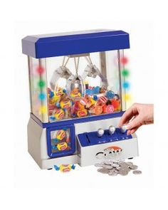 TV Trends Mini Claw Machine for Kids - The Claw Toy Grabber Machine is Ideal for Children and Parties, Fill with Small Toys and Candy - Claw Machines Feature LED Lights, Loud Sound Effects and Coins Toys For Girls, Kids Toys, Tween Girl Gifts, Tween Girls, Kids Gifts, The Claw, Gumball Machine, Cool Toys, Weird Toys