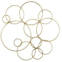 Gold Circles Wall Decor