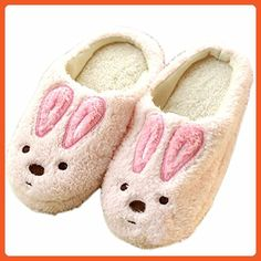 Couples's Cute Cartoon Winter Plush Slipper House Slipper (EU(36-37), Pink(rabbit)) - Slippers for women (*Amazon Partner-Link)