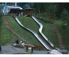 "When you find the right keyword...all kind of options pop up...googling ""embankment slides"""