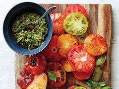 Eggplant, Tomato, and Pesto Stack