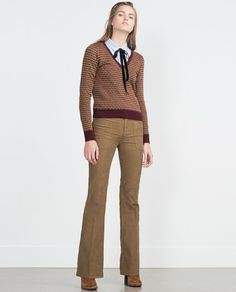 Image 1 of MICRO JACQUARD SWEATER from Zara