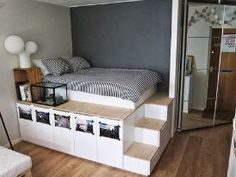 I like the platform with bed