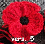 I made a bunch of these poppies for family back around Remembrance Day... Glad I found the pattern again