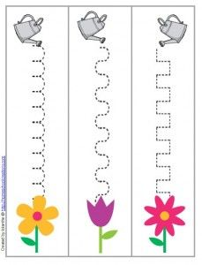 spring gardening writing patterns preschool printable - I would cover it so it could be used with dry erase markers