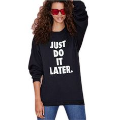 JUST DO IT LATER letter print summer woman t shirts 2015 fashion 4XL Plus Size tee shirt blackwhite women tops and tees cotton