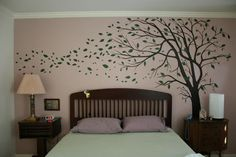 Warm Bedroom Colors Wall Art | Mural Bedroom Wall Decor | Design