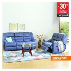 Eleganța și confortul deplin, îmbrăcate în culori vii. #canapea #fotoliu #living