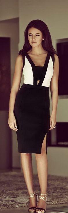 Latest fashion trends: Women's fashion   Color block cut out dress