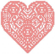 My big heart cross stitch free embroidery design - Cross stitch machine embrodiery - Machine embroidery forum