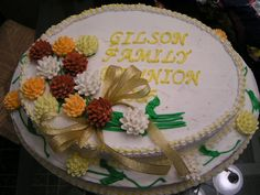 Gilson Family Reunion This is the cake I made this morning for my husband's family reunion today. Family Reunion Cakes