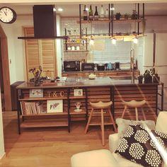 Kitchen/フレームキッチン/アイランドキッチン/ウッドワン/スウェーデンハウス /KUROMUKU...などのインテリア実例 - 2017-12-09 14:09:47   RoomClip (ルームクリップ)