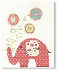 elephant wall art, would be a cute t shirt app.