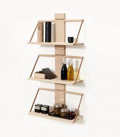 Bestill Andersen Furniture Wood wall Shelf 45 x 20 x 32 cm Medium Oak () - ✓ Wood Wall Shelf, Wall Shelves, Decoration, Scandinavian Design, Wood Furniture, Floating Shelves, Design Trends, Woods, All About Time
