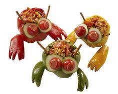 plněné papriky alá krab! Fun Food, Food Art, Good Food, Fun Snacks For Kids, Kids Meals, Lunch, Drink, Vegetables, Blog