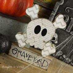 Graveyard Skull and Cross bones Wood crafts | Super Saturday Ideas | Halloween Crafts