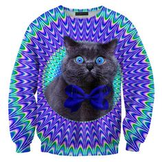 Fab.com | Crazy Cat Sweatshirt Unisex