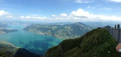 Panoramic view from the top of Mount Rigi, Switzerland.