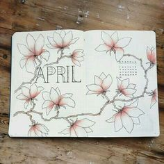 This is such an amazing idea for the bullet journal! Every year I get more organized and I love it! Can't wait to try this idea in my own planner! April Bullet Journal, Bullet Journal Notebook, Bullet Journal Ideas Pages, Bullet Journal Spread, Bullet Journal Layout, Bullet Journal Inspiration, Bullet Journal Design Ideas, Journal D'inspiration, Journal Covers
