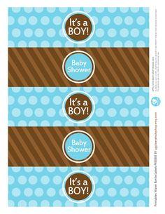 {Free Printable| Baby BOY Water Bottle Labels} Freebie by http://www.etsy.com/shop/appleeyebabyshop?ref=si_shop #printable  #freebies #diy #print #free #label #babyshower #boy #waterbottle