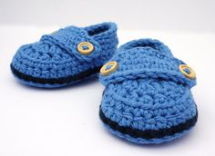 Crochet Baby Booties, Baby Loafer shoes,  Size Newborn - Ready to Ship on Etsy, £10.00