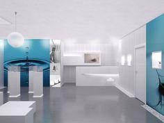 Interior de recepción en fábrica. Cliente: Mixer-Pack. Render by Icaras. 2013