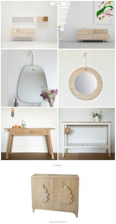 muebles para entradas y recibidores muebles de madera sostenibles espejos ecodiseo