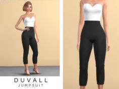 Duvall Jumpsuit for The Sims 4 by Christopher067