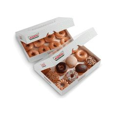 Hooray! Birthday Deals and Doughnuts at Krispy Kreme... ❤ liked on Polyvore featuring food, food & drink and food and drink
