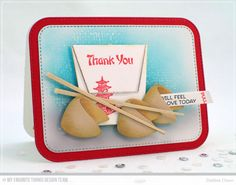 Good Fortune Stamp Set, Chinese Takeout Die-namics, Blueprints 31 Die-namics - Debbie Olson  #mftstamps