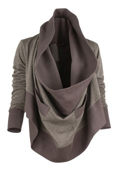 draped sweatshirt great with jeans
