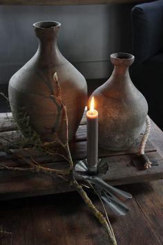 50 Shades Of Grey, Wabi Sabi, Rustic Decor, Candle Holders, Shabby, Vase, Candles, Living Room, Interior