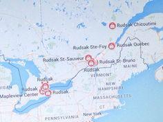 Map of Rudsak locations