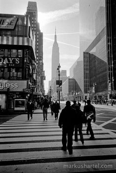 NYC. Manhattan scene, 34th St. & 8th Ave. looking East