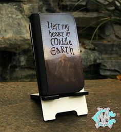 iPhone 4/4s - 5/5s - 5c - 6/6s - 6/6s+ Lord of the Rings inspired Middle Earth design faux leather case by CustomizeMeAz on Etsy