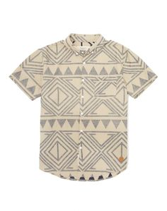 Native Youth Shirt with Aztec Print//
