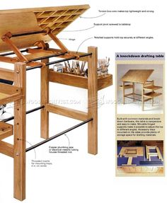 Knockdown Drafting Table Plans - Woodworking Plans Workshop Solutions