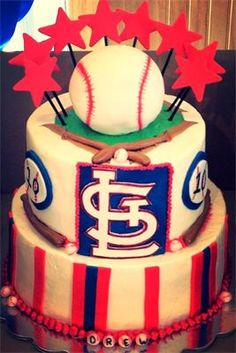 St Louis Cardinals Cake My Cakes Pinterest St louis