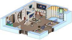 Star Trek Interior Drawings - USS Saratoga by bobye2 on DeviantArt