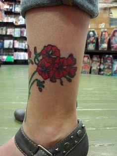 red geranium tattoo