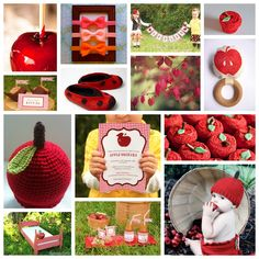 Red apple themed baby shower by The Frosted Petticoat