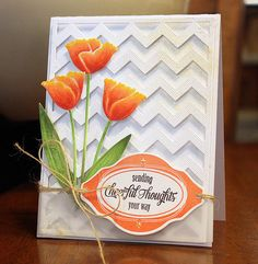 Tulip Stems Memory Box Die ~ card By Rhea | Flickr