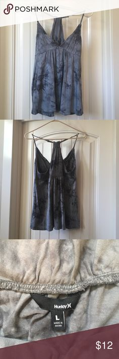Hurley tank top size Large Hurley tank top. Grey. Cotton blend. Gently worn. Size large Hurley Tops Tank Tops