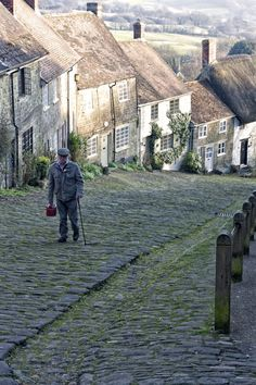 Gold Hill The location of the famous Hovis bread advert. A picture of: Shaftesbury