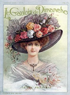 1910s fashion, hat. Edwardian ad.