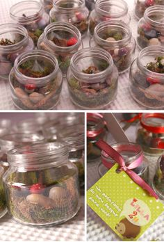 Woodland fairy giveaway idea and party theme ideas... too cute.